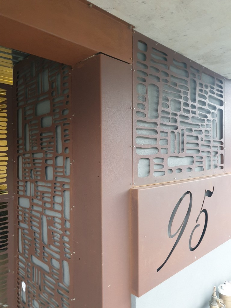 Laser cut external building facade by PLR Design