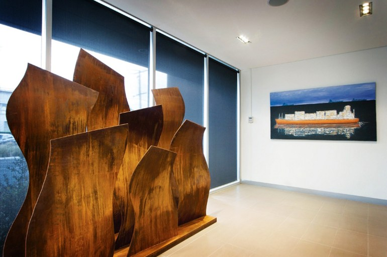 Ripples Large Corten steel sculpture by PLR Design