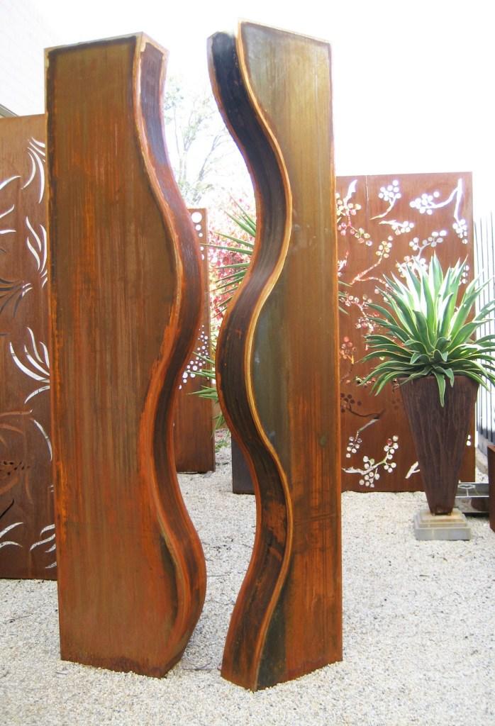 Wave Corten steel sculpture by PLR Design