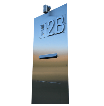 stainless steel fabricated letterbox by PLR Design