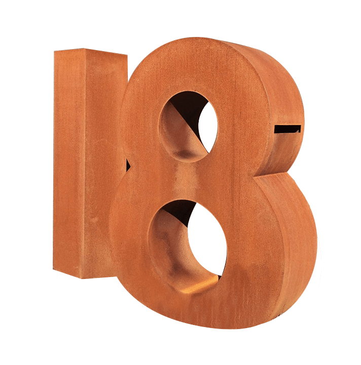 Corten fabricated letterbox - no18 by PLR Design