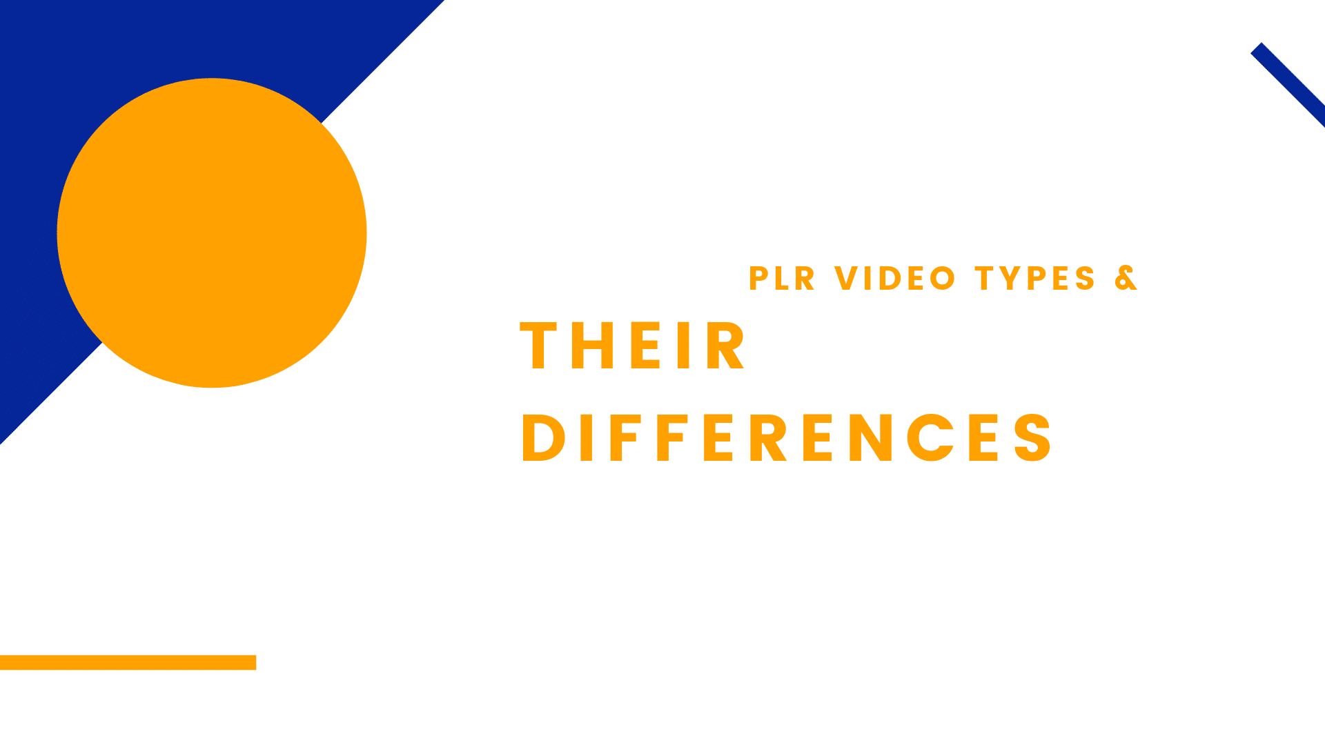 PLR Video Types and Their Differences