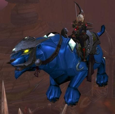 【美服】魔兽世界坐骑:蓝宝石猎豹Sapphire Panther