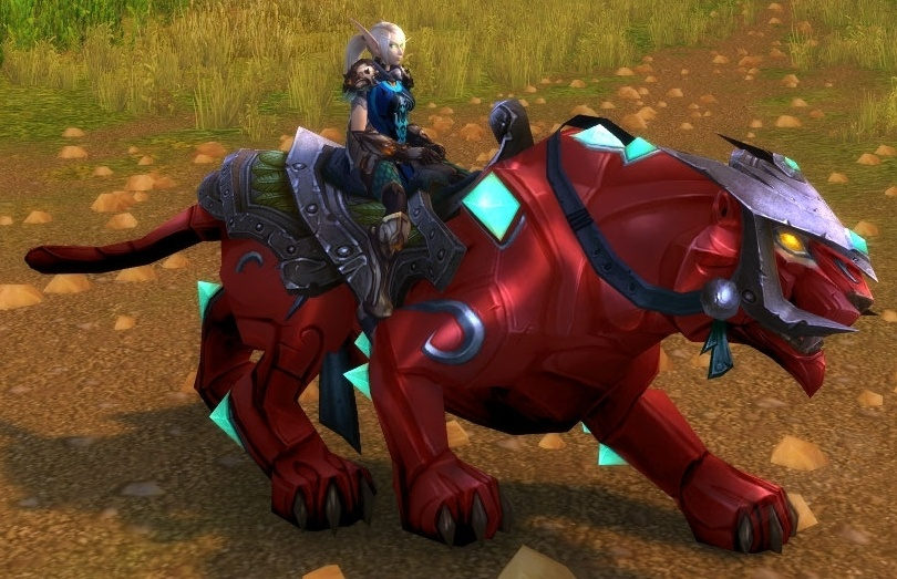 【美服】魔兽世界坐骑:红宝石猎豹Ruby Panther@PLS173.com