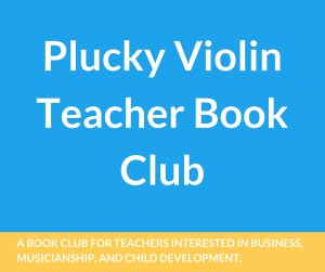 A book club for teachers interested in business, musicianship, and child development.