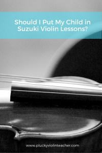 Suzuki violin lessons are a big commitment! Here are three questions you need to ask yourself before beginning...