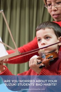 For Suzuki Parents and Teachers: How to Get Your Suzuki Violin Students to Accept Criticism