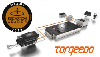 torqeedo electric boat drive system with Miami Boat Show Innovation award