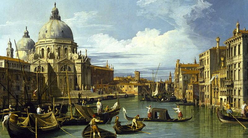 Canaleeto painting Entrance to The Grand Canal