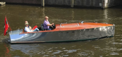 Anne Bonney electric runabout boat in Amsrdam
