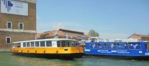 Venice boat show featured these two electric barges