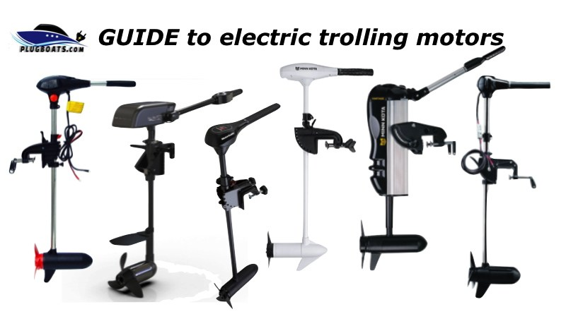 Photo of a variety of electric trolling motors