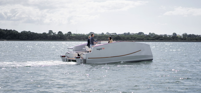 Electric Catamaran by Bagou Boats