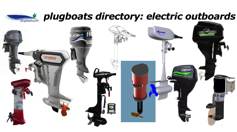 photograhs of a variety of electric outboard motors