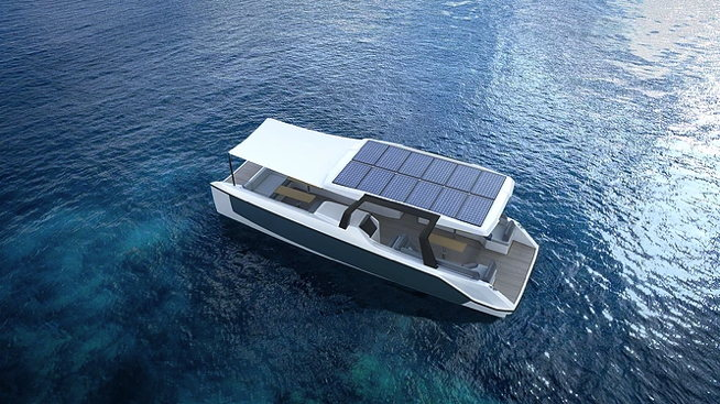 Electric boat from Gloss Yachts