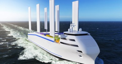 Hydrogen vessel's wingsails now on cargo ship