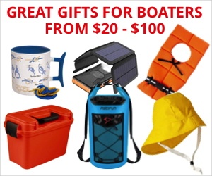 collage of electric boater gift ideas
