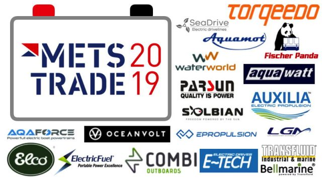 a collage of logos of METSTRADE Boat Show electric exhibitors