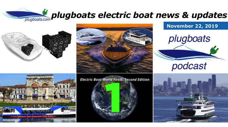 a collage of different photograpsh showing the stories in the electric boat roundup