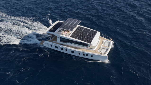 Solar electric ocean yacht by Silent Yachts