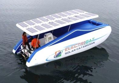 BOOT: New inflatable solar catamaran is 'light as air'