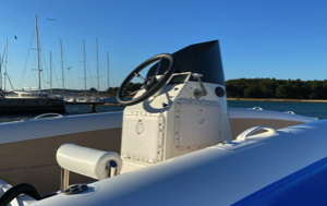centre console for the inflatable solar catamaran