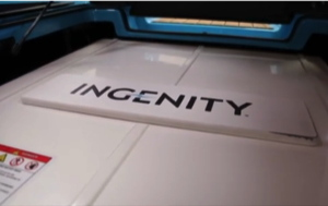 Close up of Ingenity battery in Nautique electric wakeboard boat