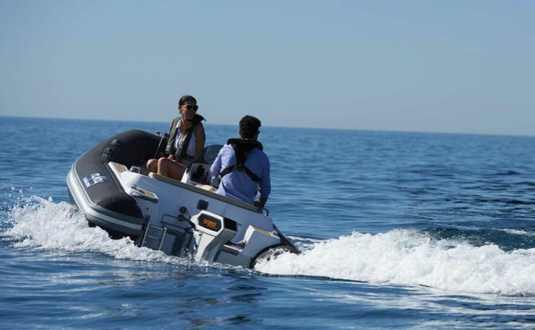 Electirc boat - a RIB tender by Myway Marine