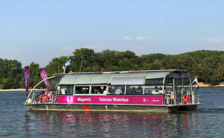 Solar Waterbus in Vukovar Croatia