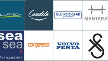 montage of companies in guide to electric boats exhibitors