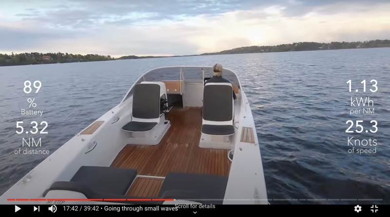 image fomr electric boat virtual sea trial video