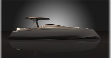 New sleek, sustainable 33′ electric power catamaran