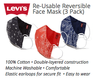 Levis masks 3 Pack