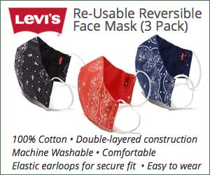 Levis masks 3 Pack