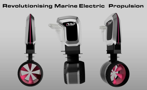 RIM electric boat motors by RAD propulsion