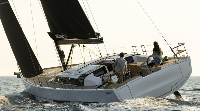 oceanvolt electric motors will be offered on all Elan yachts, including this G6 model seen sailing in full wind