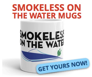 smokeless on the water electric boat mug
