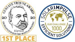 logos of Gustave Trouve Awards and Solar Impulse Foundation