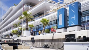 VITA electric boat charging stations at the Yacht Club de Monaco