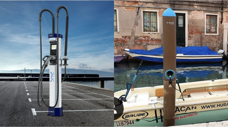 electric boat charging.