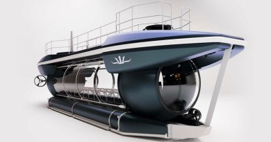 Electric powered submarine can take 24 passengers 100 metres deep