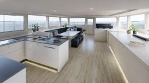Silent Yachts Tri-Deck 52 interior, top deck