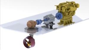 cutaway diagram of elements of electric hybrid refit
