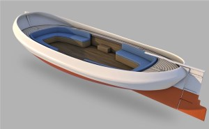 3d printable electric boat hull