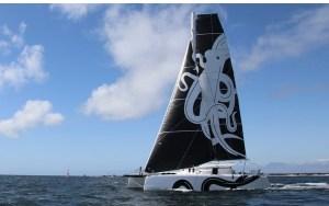 sailboat entry in electric boat awards sailing at full mast