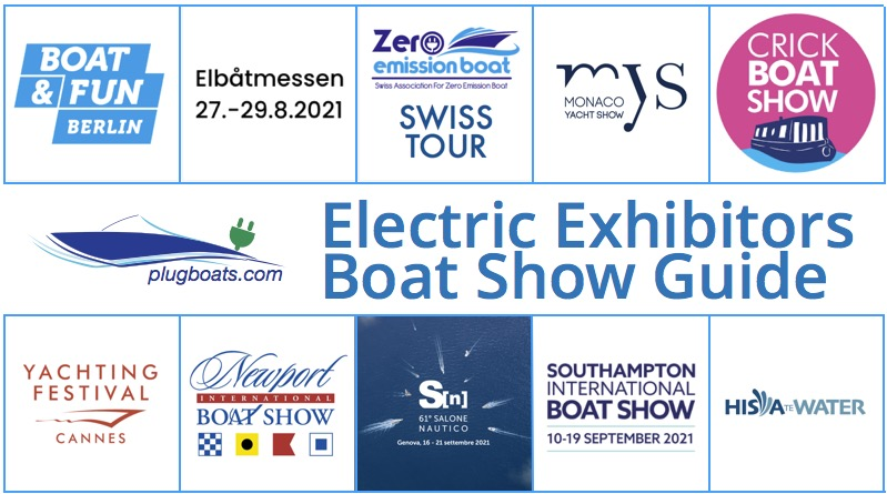 Electric boat exhibitors guide - logos of boat shows