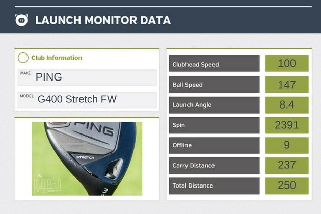 PING G400 Stretch FW Data