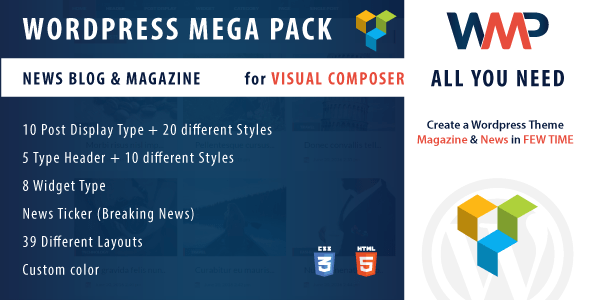 Visual composer addons bundle - gallery, media, posts and utility for VC 6