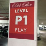 Annapolis Westin Garage Level P1 sign