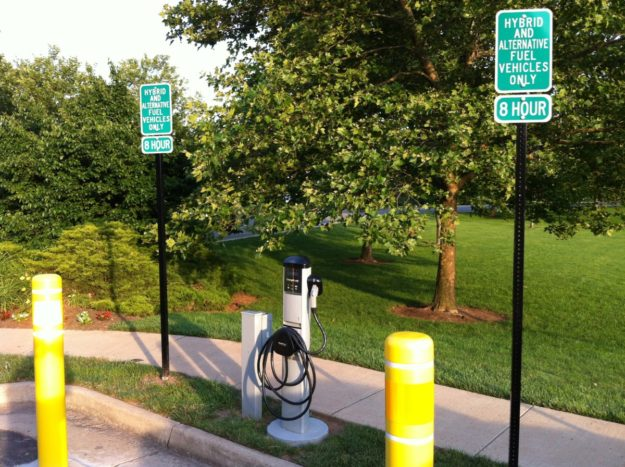 City of Manassas, VA EV charging station
